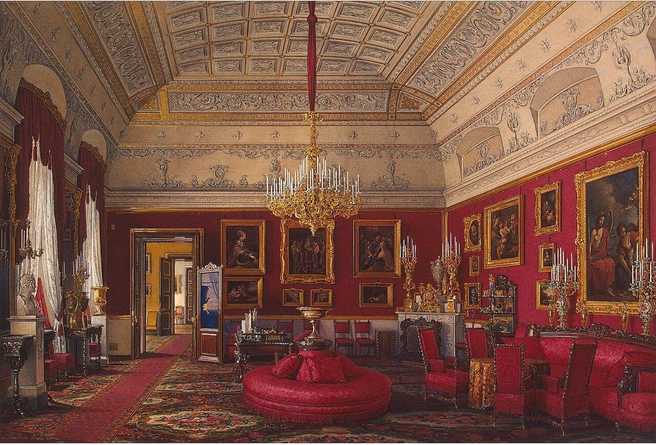 Интерьеры Зимнего дворца. Большой кабинет великой княгини Марии Николаевны