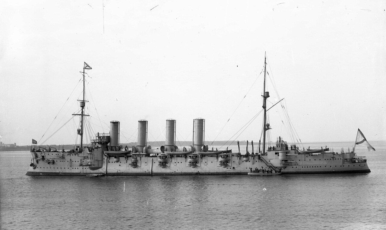 Броненосный крейсер Громобой на Балтике после капитального ремонта, 1911 год.