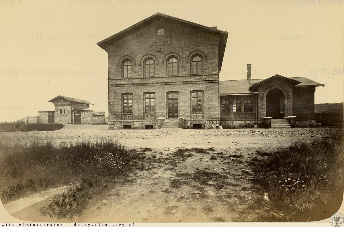 Большой железнодорожный вокзал в Яновице.1867