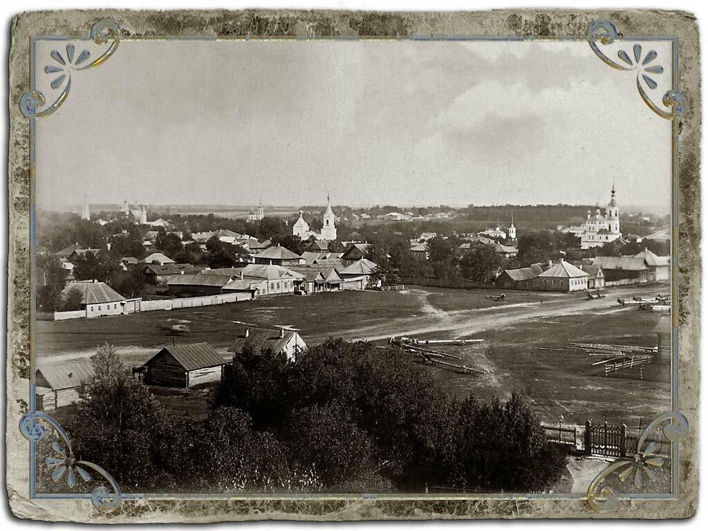 Вид города с колокольни Сергиевской церкви (ЮВ часть)