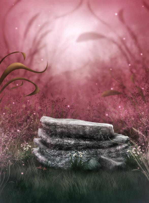 【背景挂件分隔线素材篇】梦幻视觉制作音画背景素材5 - 浪漫人生 - .