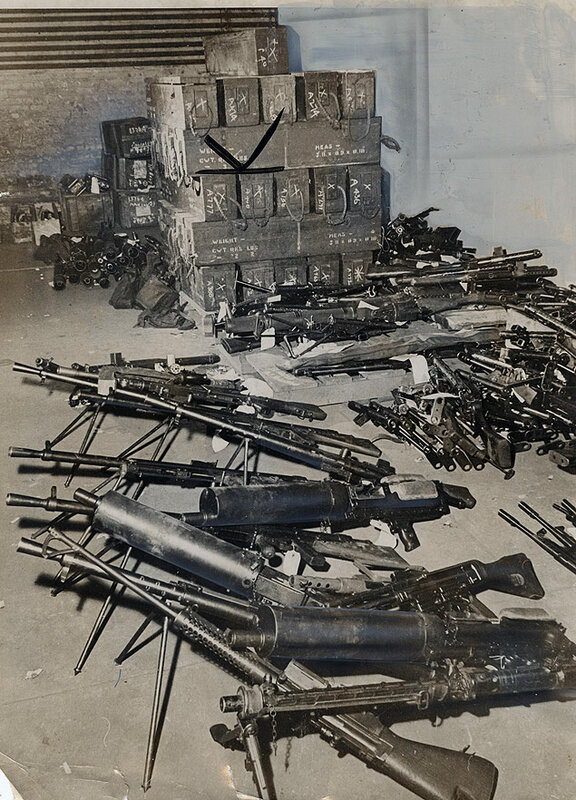 Treasury agents staged a 7-day-long raid on a mysterious warehouse in Ridgefield, New Jersey, seizing some 517 fully operational and unregistered machine guns