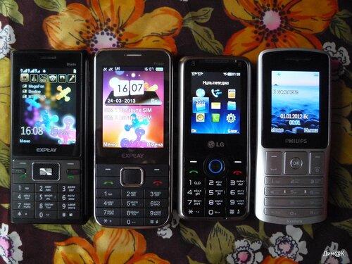 Explay Blade, Explay Power, LG GX20, Philips X130