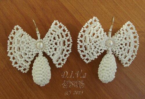 Схема народных серег-бабочек