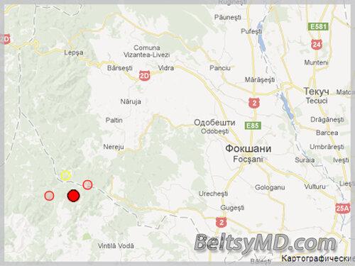 Землетрясение магнитудой 4,2 балла в Румынии