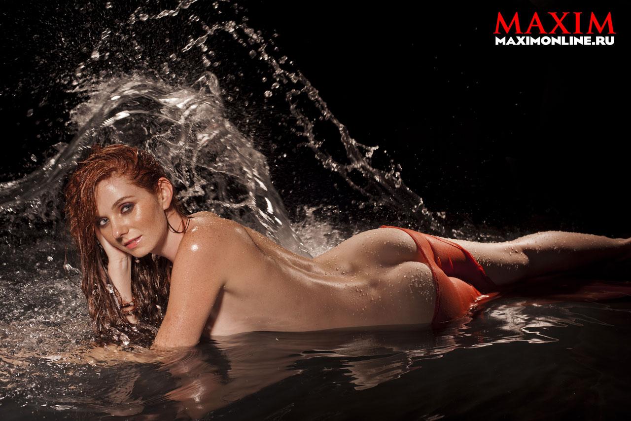Голая Лена Катина из Тату в журнале Maxim февраль 2013