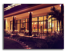 Сейшелы. О.Праслин. Raffles Praslin Seychelles.Losean_Restaurant_Night