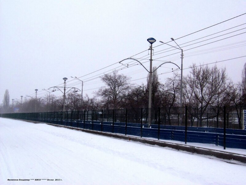 Город Киев. Улица Борщаговская. 23 марта 2013 г.