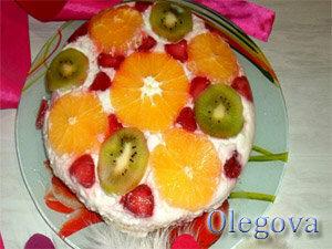Готовый фруктовый торт