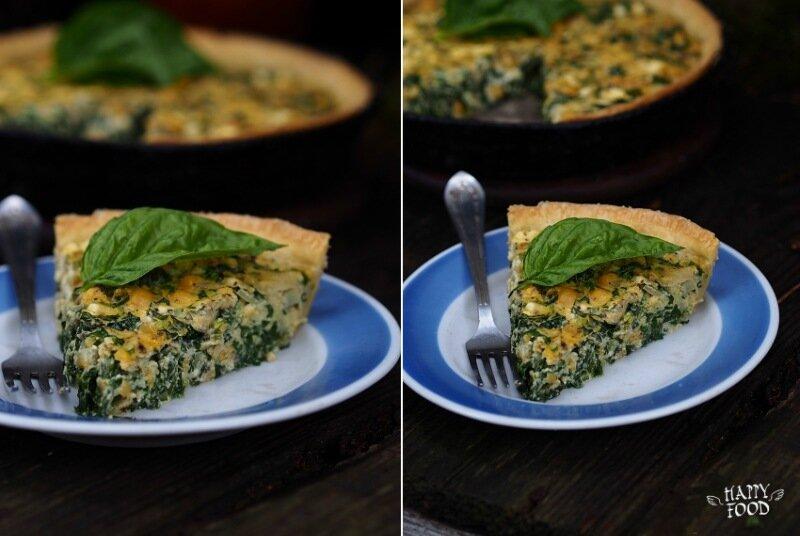 Тарт с кукурузой, луком и творогом и зеленью