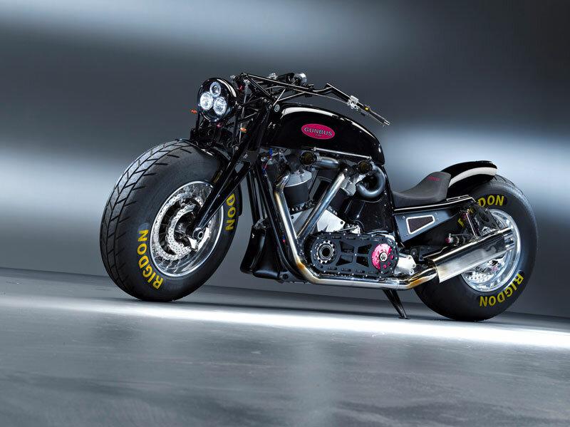 самый большой мотоцикл в мире GUNBUS 410