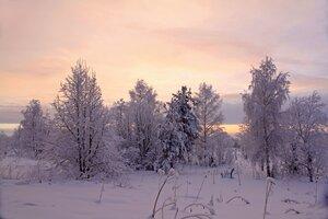 Закат за речкой Кижмолой