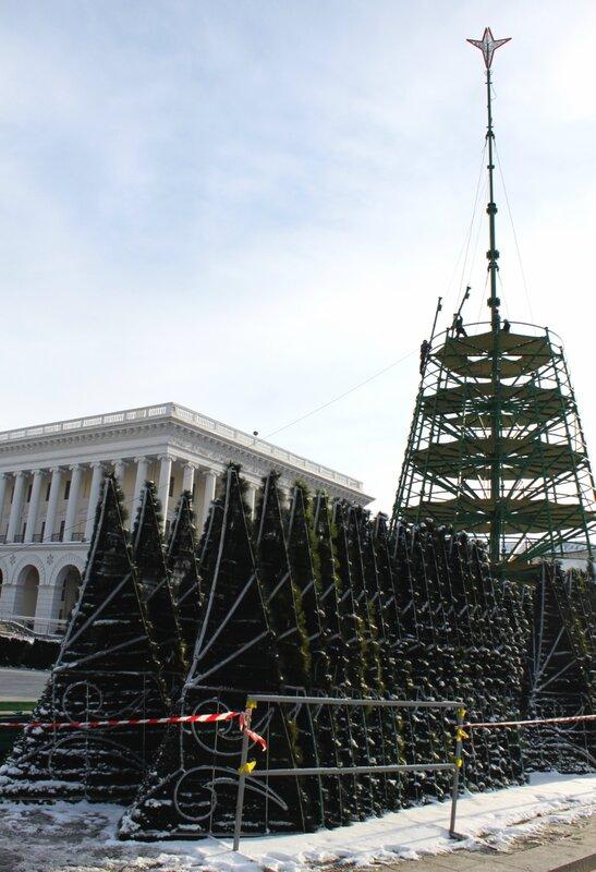 демонтаж главной елки киева