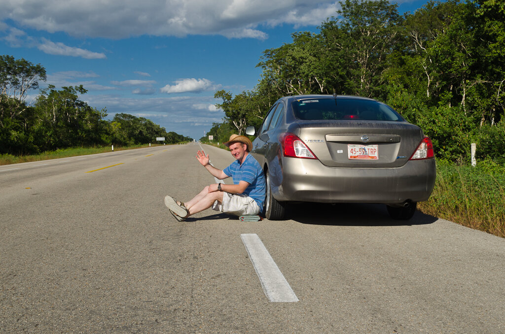 Фото 1. Мексика. Фото. По дороге в Тулум от лагуны Бакалар устроили фотосессию. Снято на зеркалку Nikon D5100 KIT 18-55mm f/3.5-5.6.