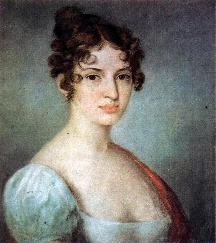 Алексей Венецианов. Портрет неизвестной в белом платье