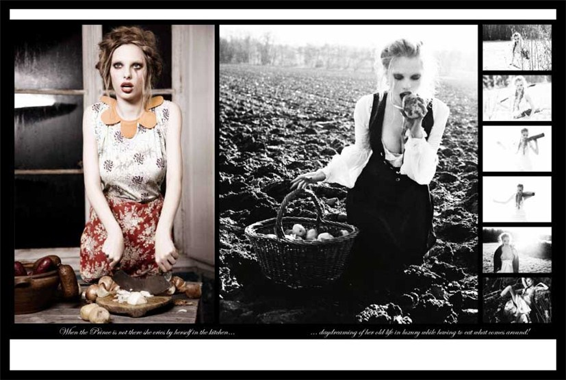 Dioni Tabbers, Julia Oleynik, Alice Aufrey / Диони Табберс, Юлия Олейник и Элис Офри в Ночной сказке фотографа Ellen Von Unwerth в журнале Vs. Magazine, весна-лето 2010