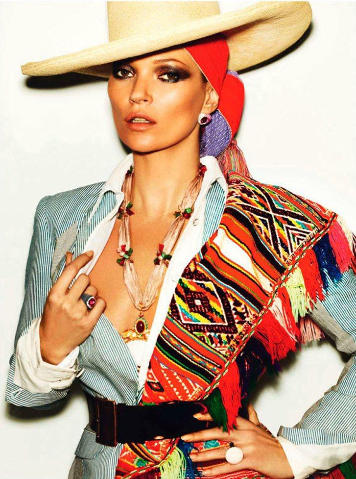 модель Кейт Мосс / Kate Moss, фотограф Mario Testino