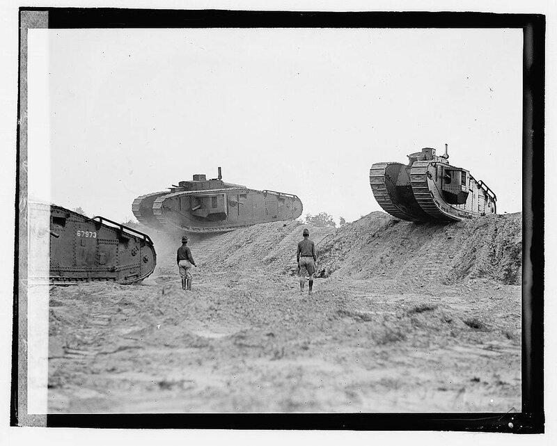 Tank demonstration, Camp Meade 1922.