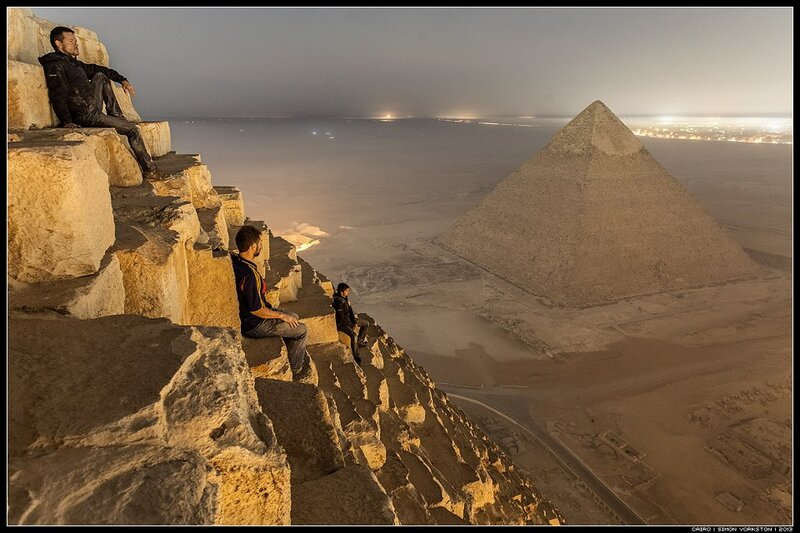 photo from the pyramids