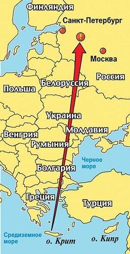 Карта падения