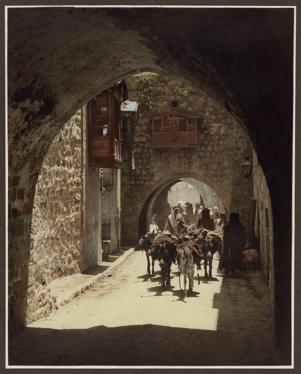 Арочная улица в Старом городе в Иерусалиме