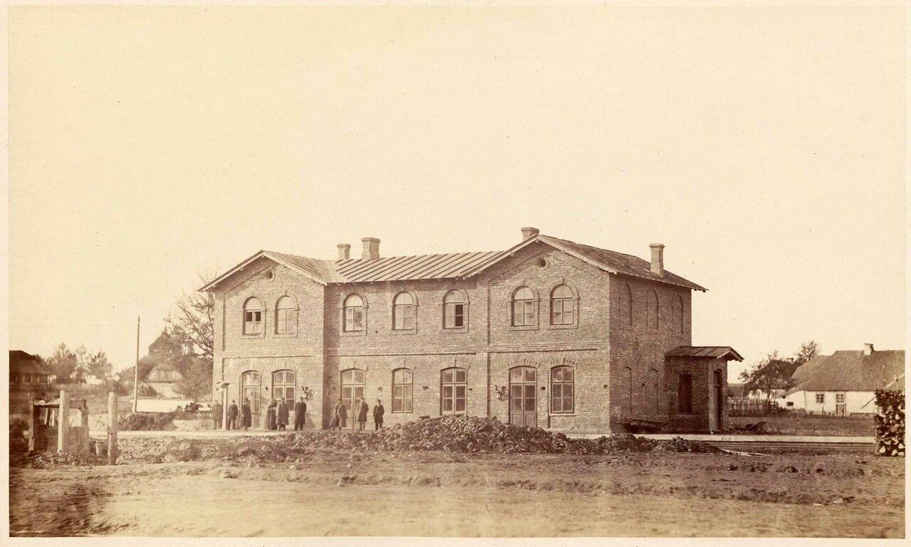 Открытие железнодорожного вокзала в Мрозы, 1866