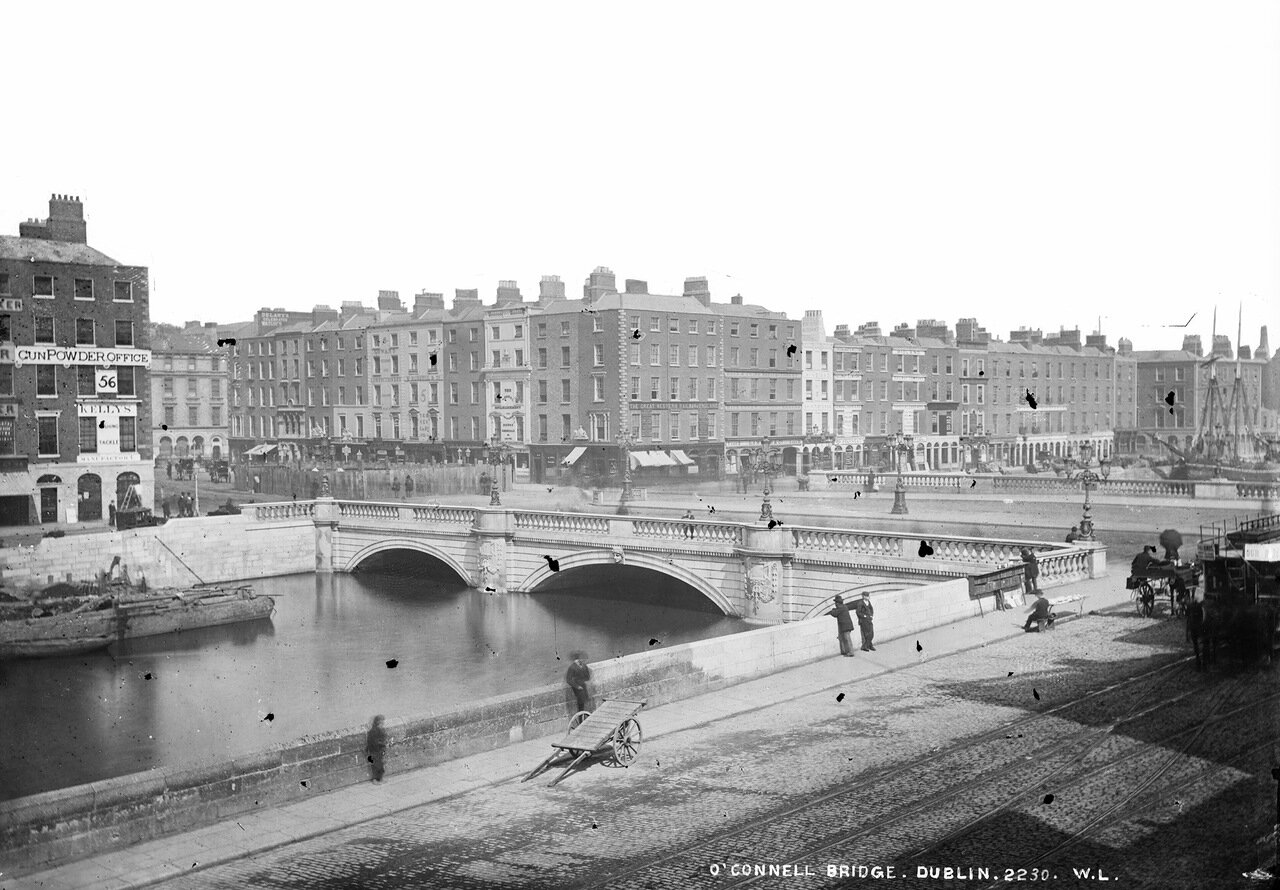 Строительство памятника О'Коннелла. Дублин. 1880
