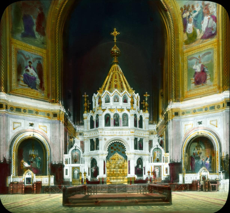 Москва. Храм Христа Спасителя. Внутренний вид главной апсиды