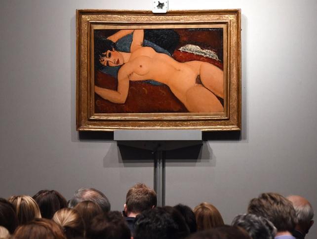 Лежащая обнажённая, Nu Couche (1917-18) Амедео Модильяни 170,4 млн. купил шанхайский миллиардер Лиу Икиан в Нью-Йорке у Кристис, ноябрь 2015(4)