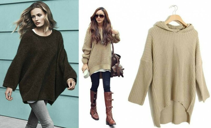Пуловер спицами оверсайз схема
