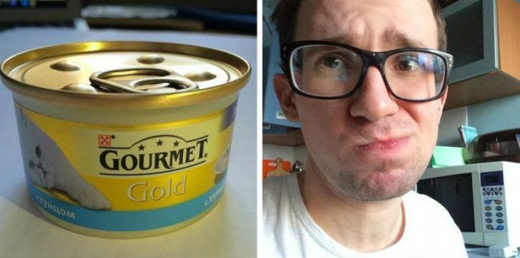 Gourmet Gold с тунцом Первое впечатление — на вкус словно мясной паштет. Поначалу понравился, но пот