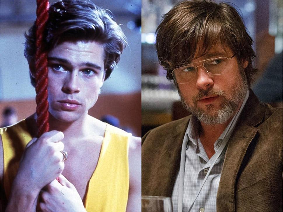 Брэд Питт: «Сокращая класс» (1989) и «Игра на понижение» (2015).