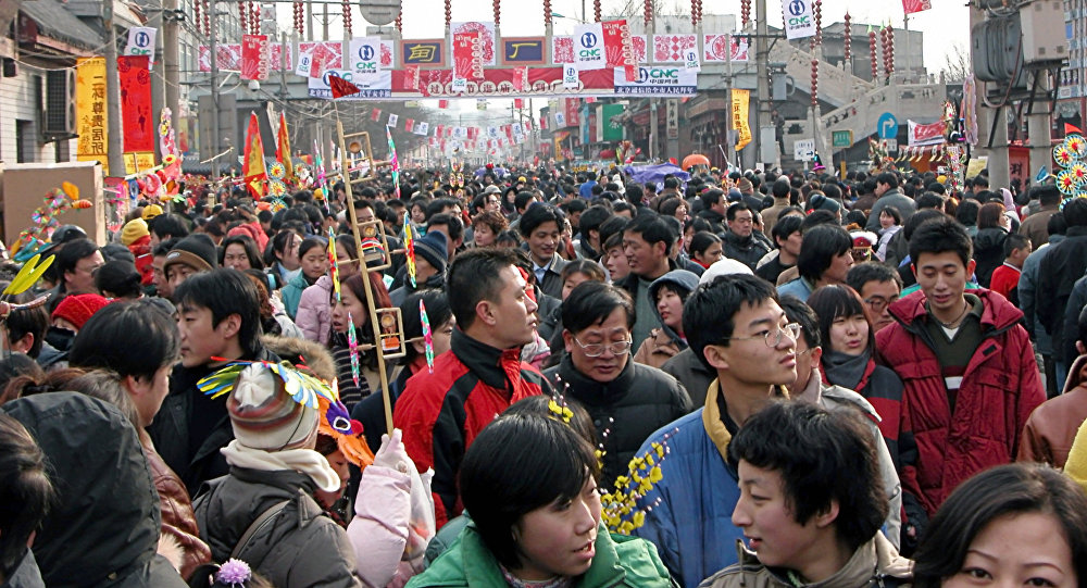 Население Китая в прошлом 2016г. возросло до 1,382 млрд человек