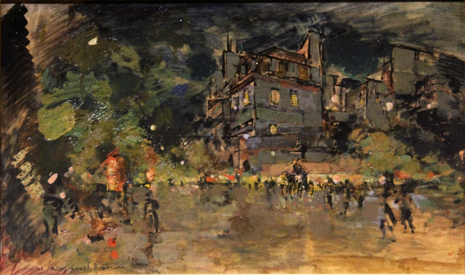 Коровин К.А. 1861-1939 Париж. 1902 Картон, масло. Национальный художественный музей Республики Беларусь