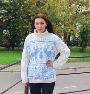 Схема свитера с оленями женский спицами фото 940