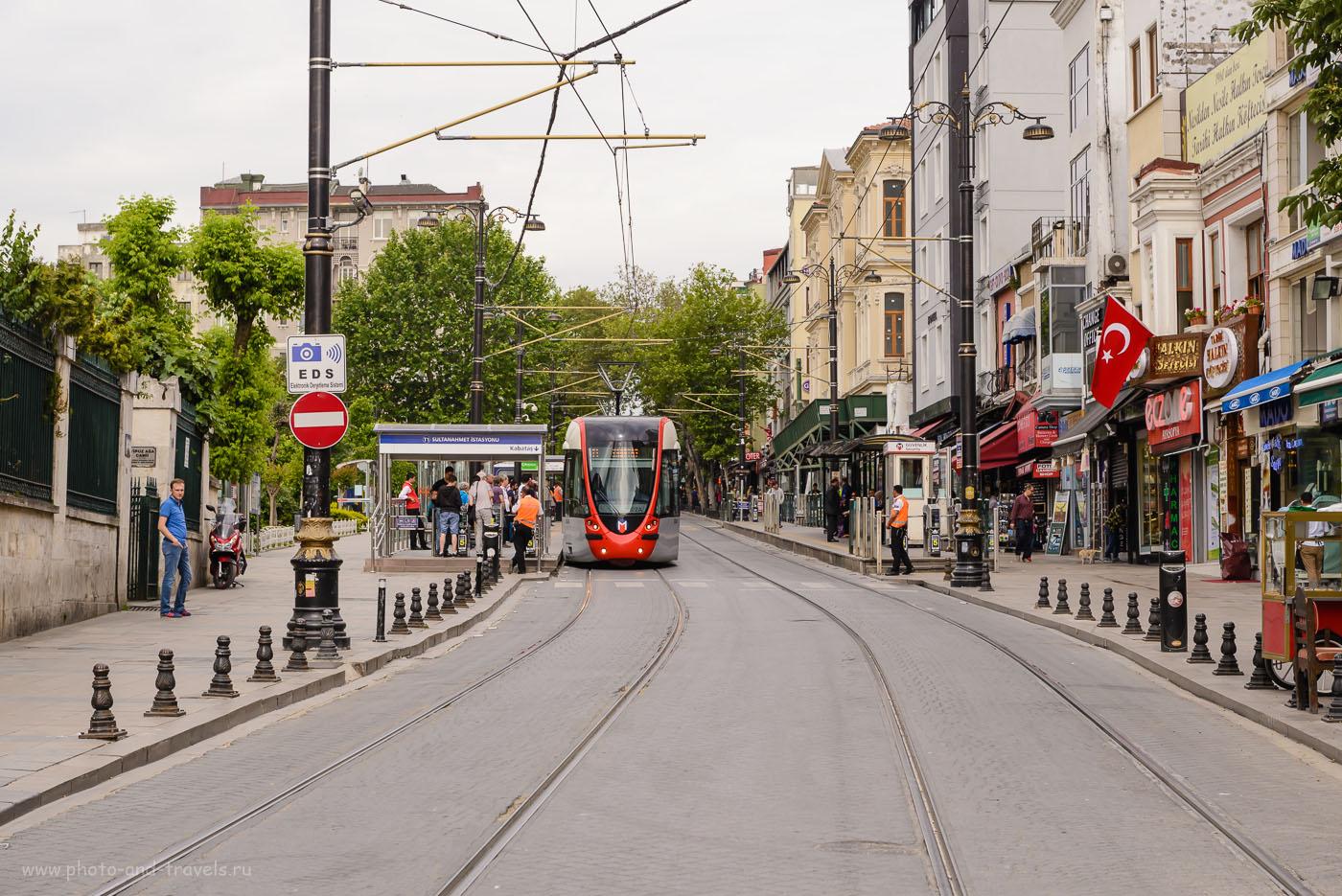 Фотография 5. Остановка «Султанахмет» в Стамбуле. Как добраться из аэропорта в центр. Отзывы туристов об отдыхе в Турции самостоятельно в 2016 году. 1/500, 8.0, 400, 70.
