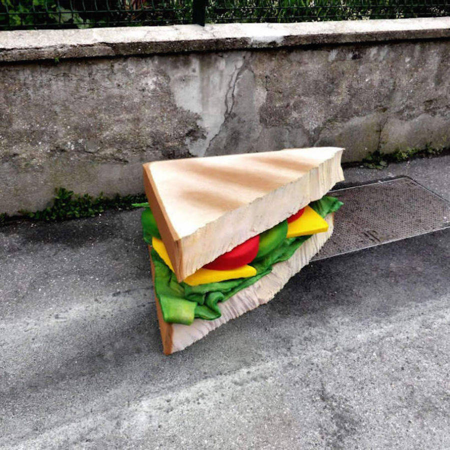 Abandoned Mattresses Turned into Appetizing Food Sculptures