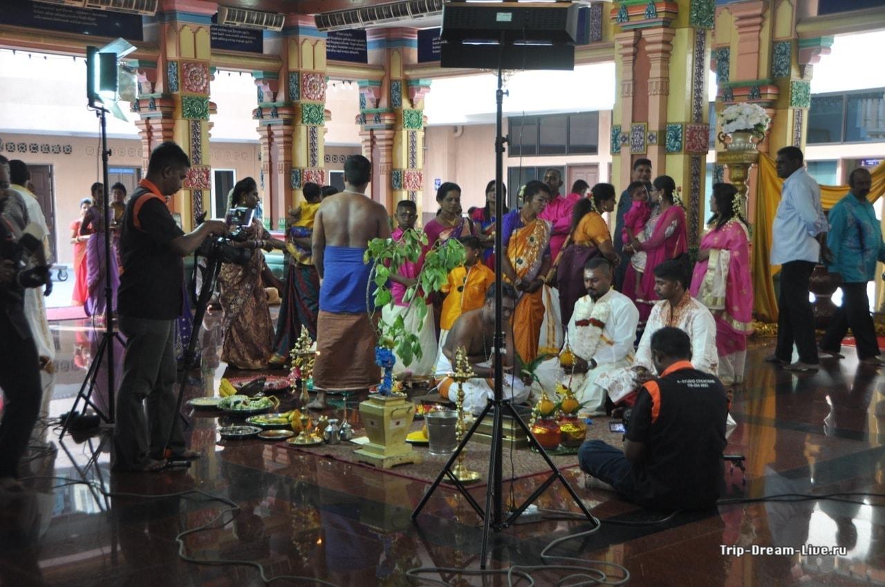 Индийская свадьба в Храме Шри Махамариамман