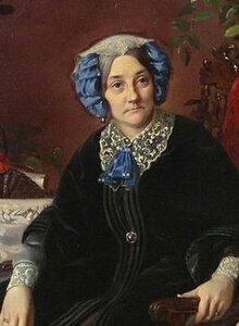 14 Изабелла Гагарина (Валевская) (портрет работы Сергея Зарянко, 1850-е годы).jpg
