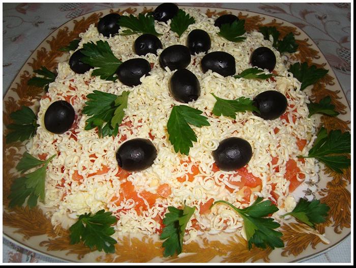 слоеный салат царская забава