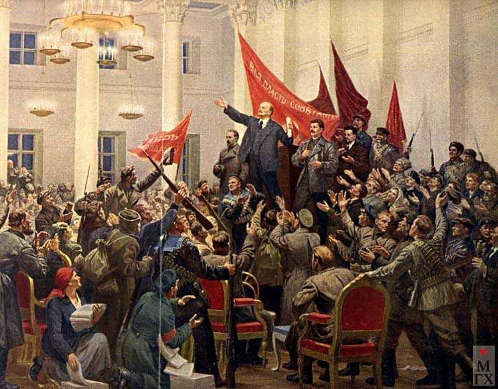 Соколов-Скаля. 2-ой съезд Советов (фрагмент). 1953