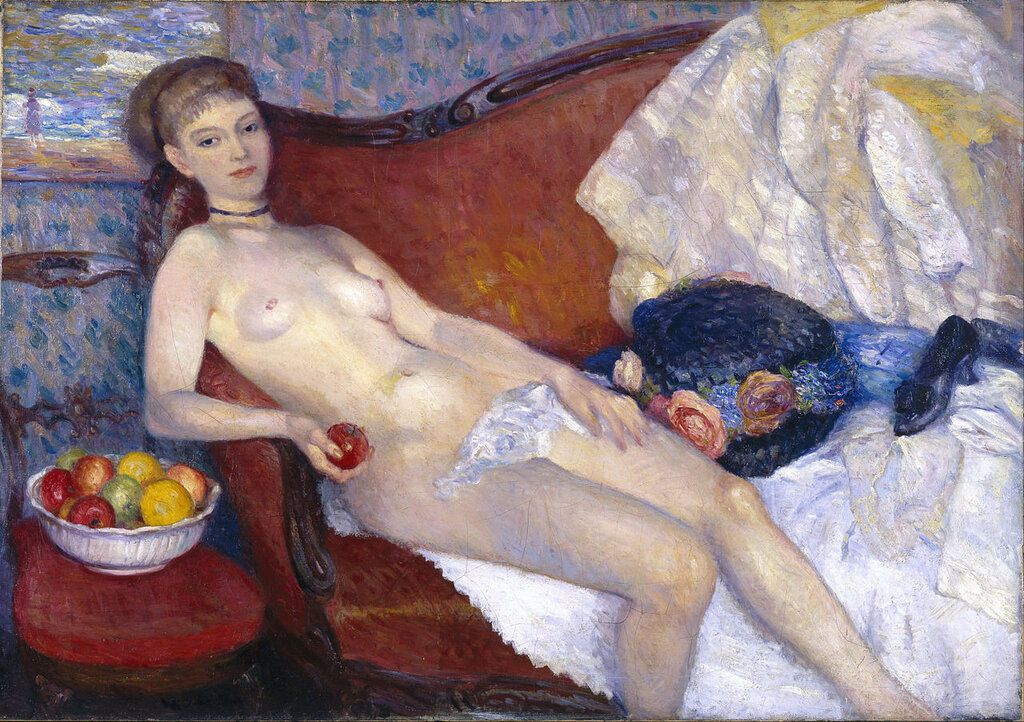Nude with Apple, 1910   William Glackens(1870-1938)Brooklyn Museum
