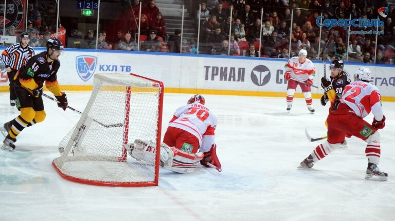 «Северсталь» vs «Спартак» 4:1 чемпионат КХЛ 2012-2013 (Фото)