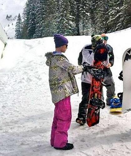 Джастин Бибер в швейцарских Альпах