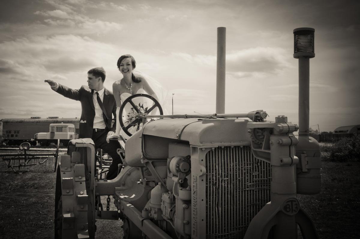Муж с женой - ударники производства
