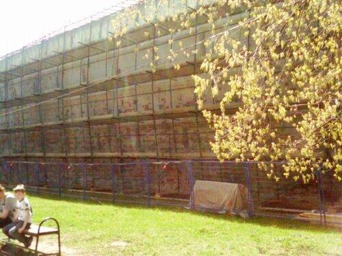Реставрация крепостных стен Лавры перед юбилеем Сергия Радонежского