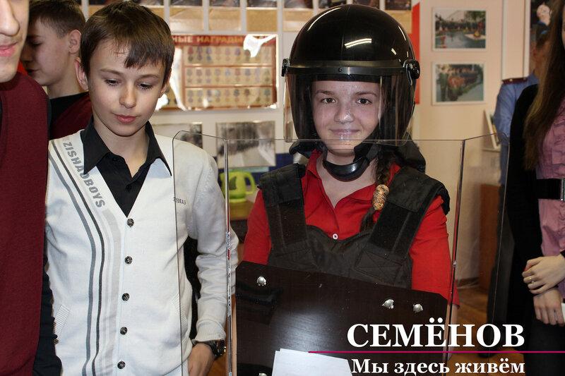 Школьники посетили Семеновский музей МВД