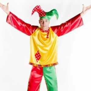 Мужской карнавальный костюм Скоморох