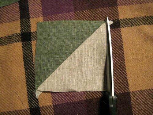 соединение треугольников в лоскутном шитье