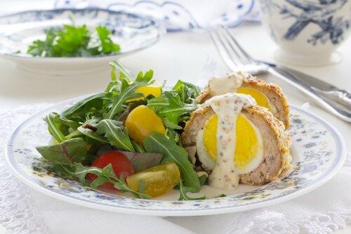 Egg salad with scotch.